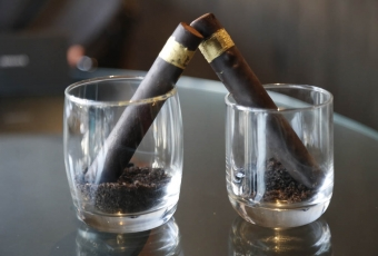 Chocolate Cigars with Crushed Oreos