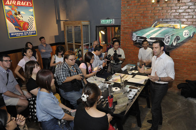 Coffee Sommelier, Mr Claudio Pinto at the Cupping Session with the Media