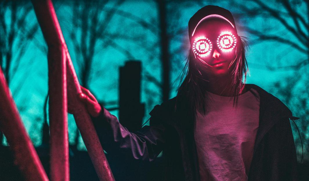 REZZ Glowing Eyes Glasses