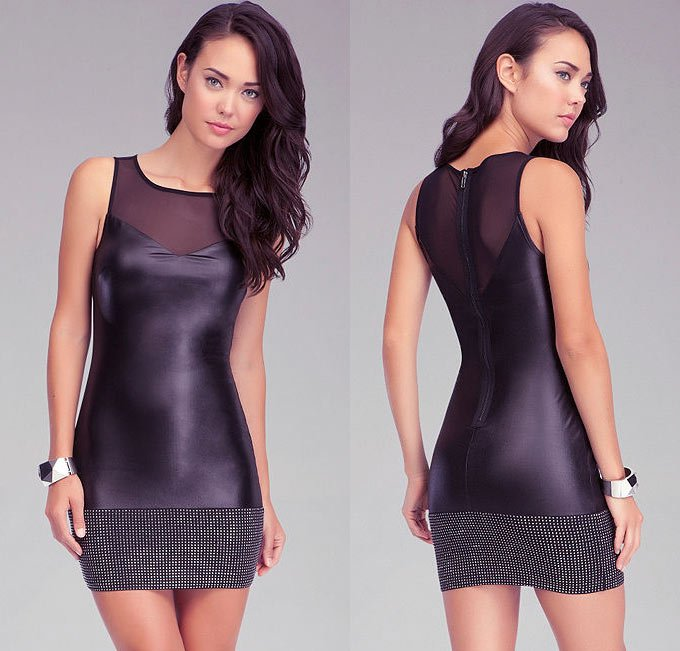 studded-leather-dress