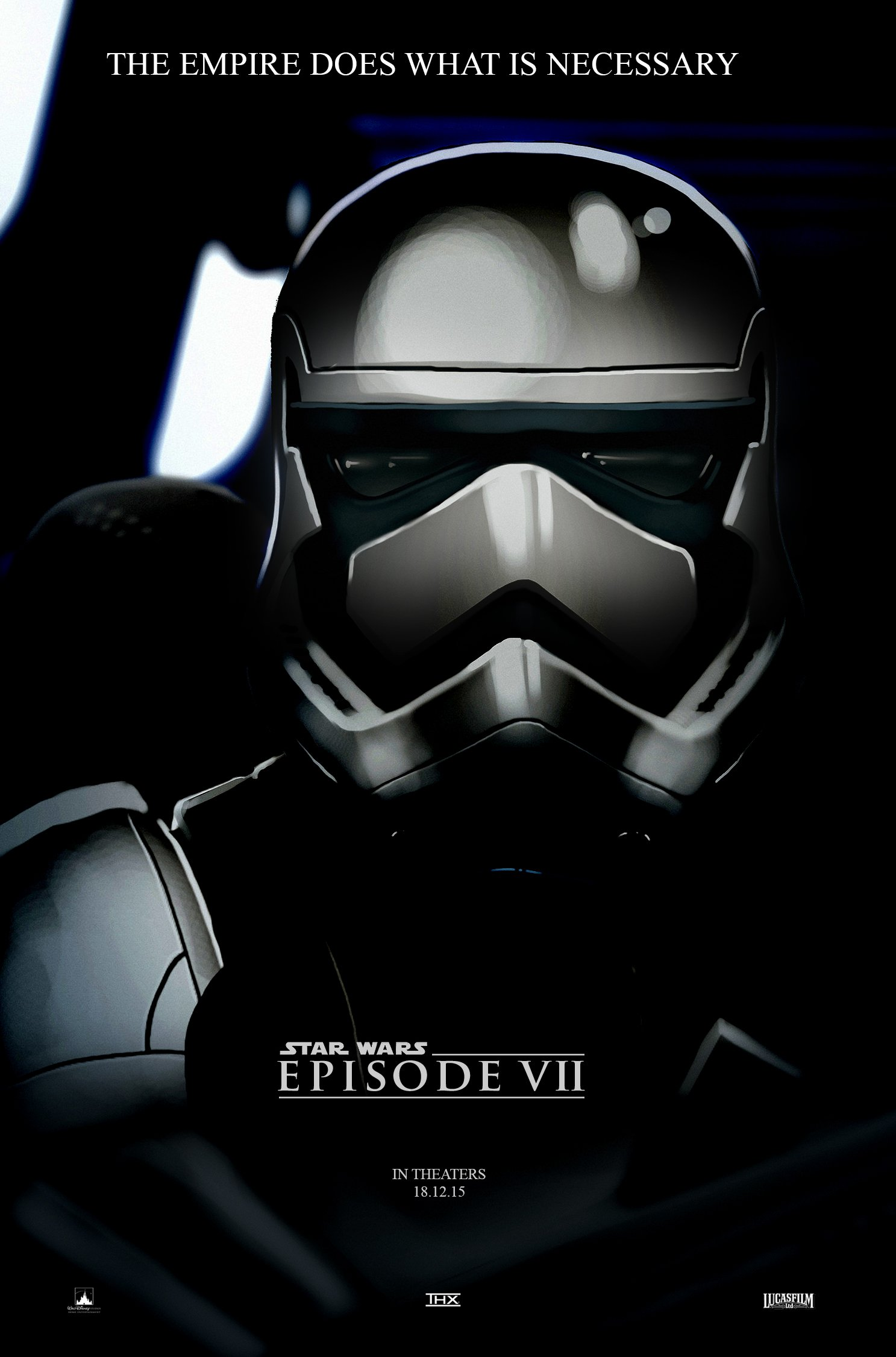 Star Wars Episode 7 Stormtrooper Poster Fan Made by Ivan Cheam