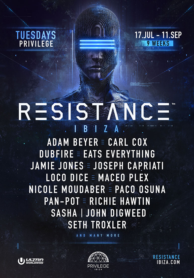 Resistance Ibiza 2018 Headliners