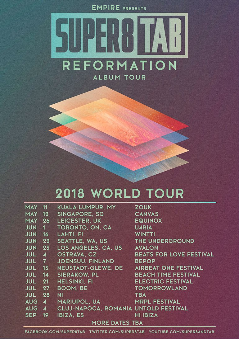 2018 WORLD TOUR Super8 and Tab Reformation