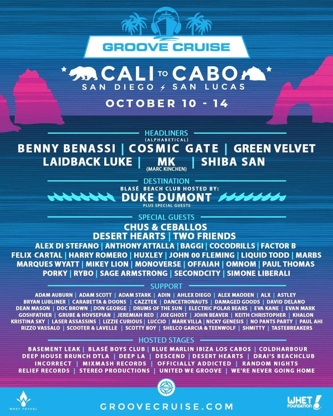 Groove Cruise Cabo Lineup Phase 2