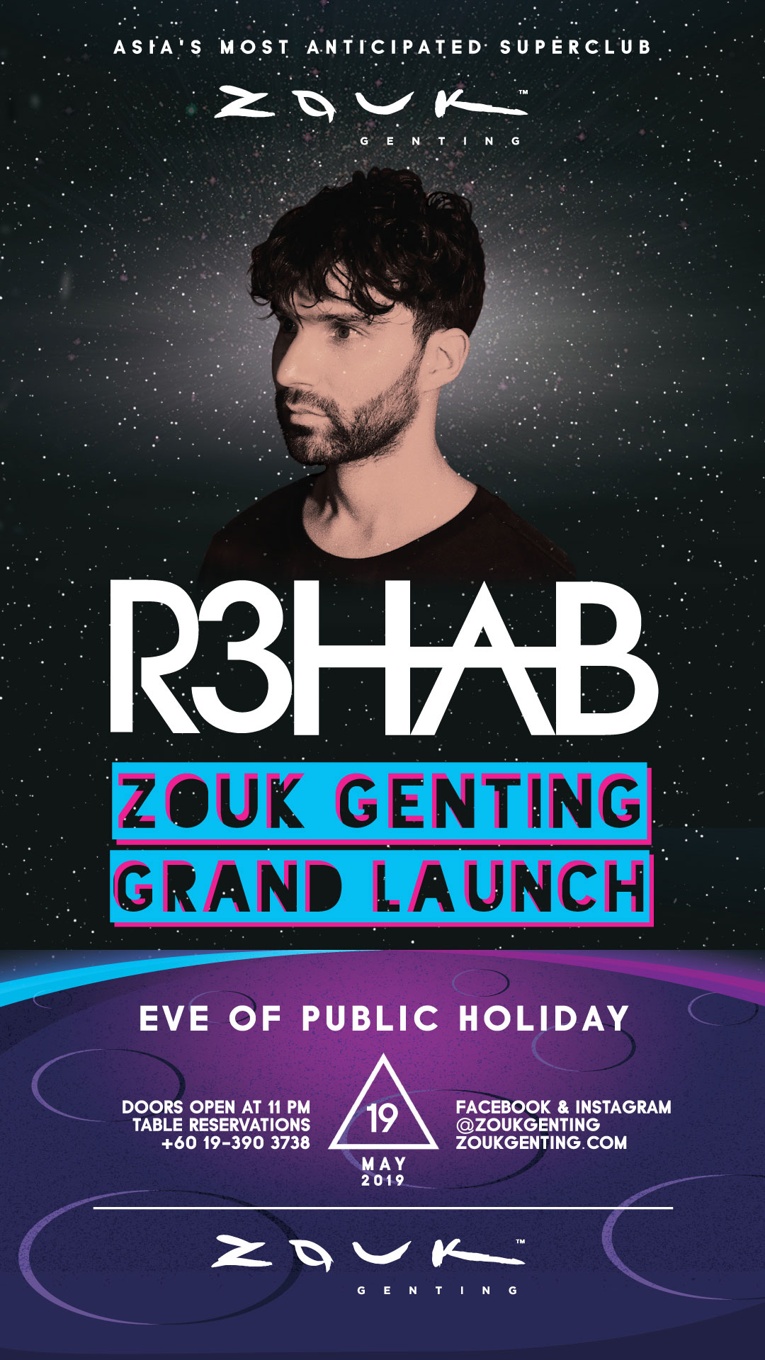 Zouk Genting Announces Grand Opening May 19 with R3HAB and BATE