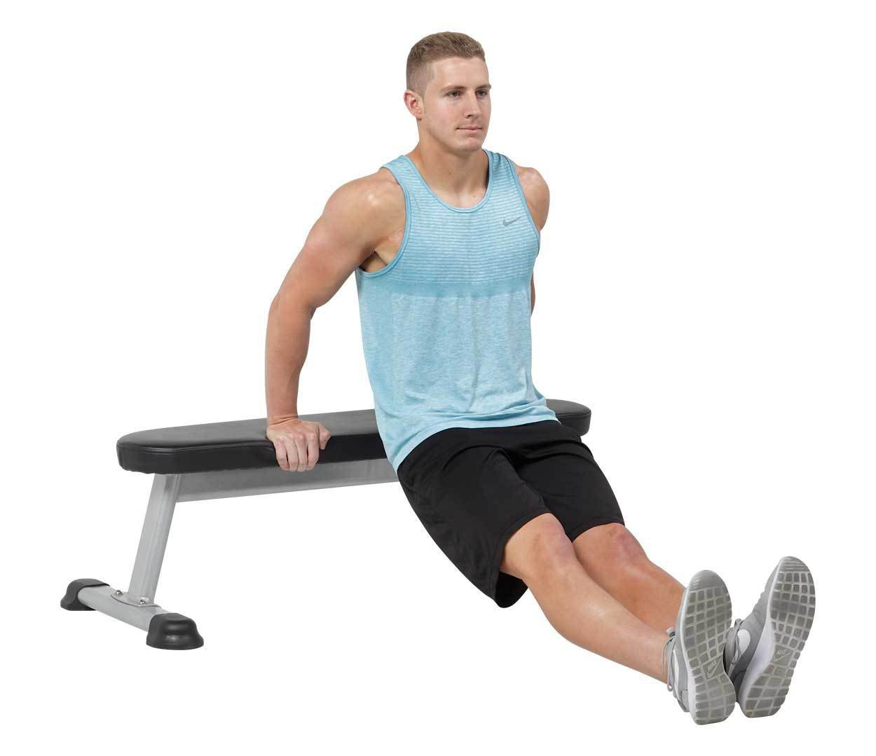Best Workout Technique #7 - Bench Dip Exercise