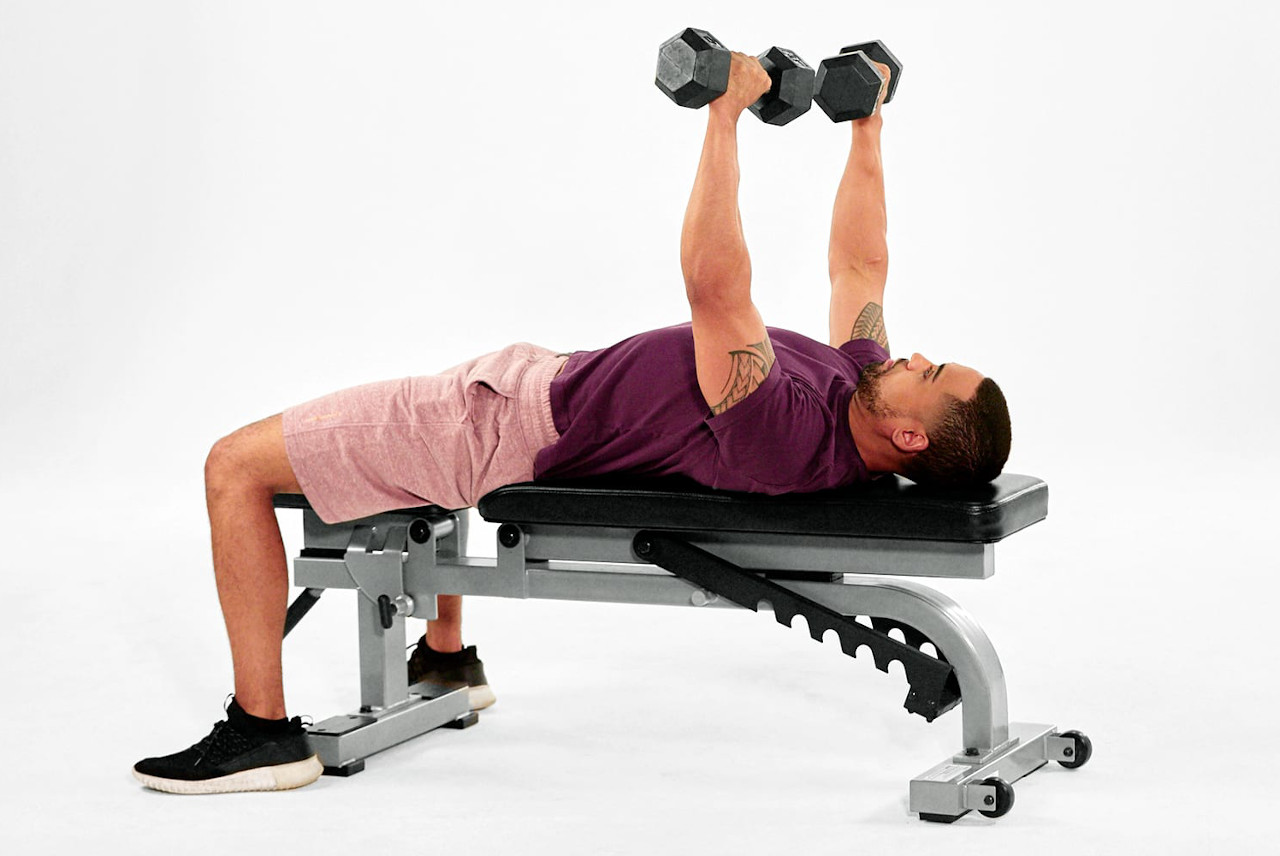 Best Workout Technique #1 - Dumbbell Bench Press Exercise